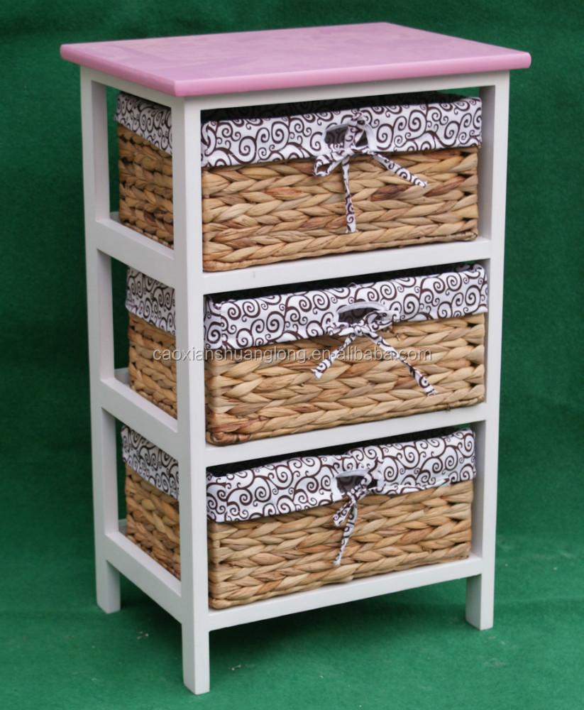 Muebles para el hogar peque os cajones de paja madera for Muebles en bruto