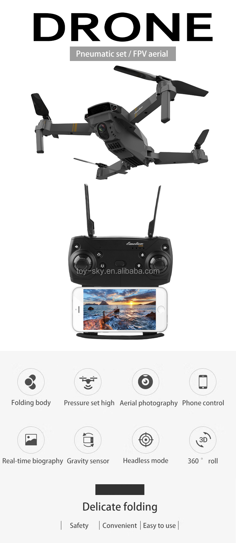 In stock original S168 2.4G Folding Selfie Fpv Drone Quadcopter Camera Wifi Wide angle 720P HD With Altitude Hold Mode JY019 E58