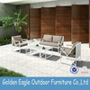 High end & durable outdoor rattan sofa set with 100% hand-weaving and solid plastic wood