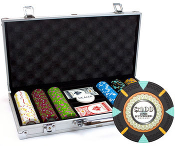 NEW 300 The Mint 13.5 Gram Clay Poker Chips Aluminum Case Set