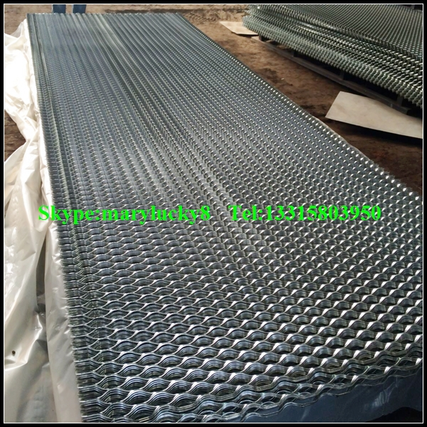 Galvanized Diamond Pattern Expanded Metal Screen Grating
