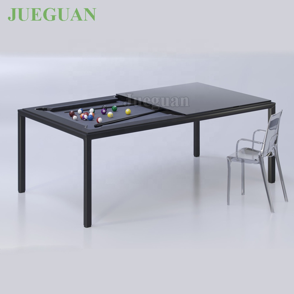 office 6ft mini metal dining billiard pool table with conversion top
