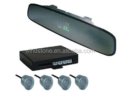 Wireless VFD Display car reverse parking sensors with rearview mirror---RD-VFD027C4