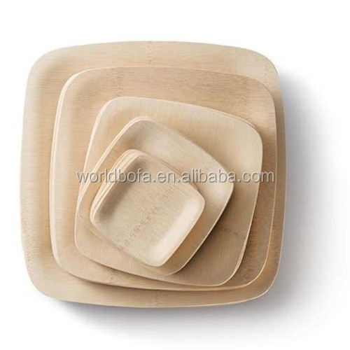 Cheap disposable bamboo dinner plates biodegradable bamboo dishes