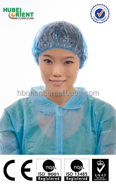 Disposable Non Woven PE Shower Cap for Hotel Used