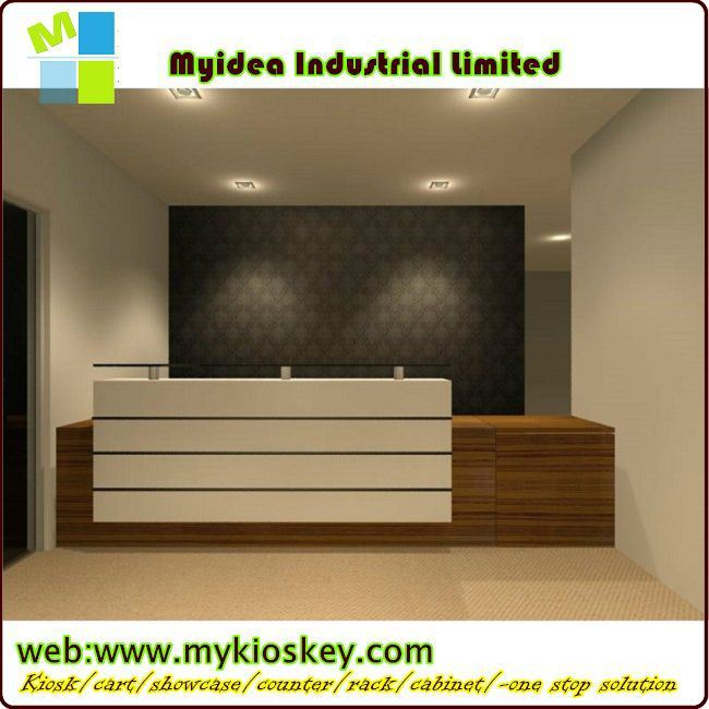 Luxury And Top Quality Reception Counters With Lights
