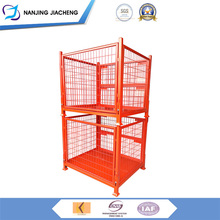 Heavy Duty Stainless Steel Security Collapsible Wire Cage Mesh Box Container, Dog Metal Bin Storage Container