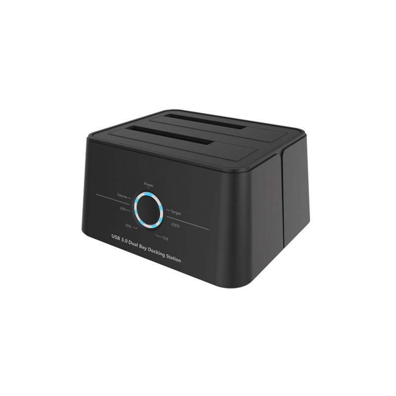 USB 3.0 type-C smart docking station, supports dual HDD transfer high speed data storage, CE, FCC