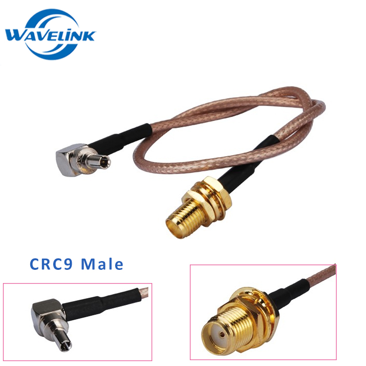 GSM Antenna Extension Cable SMA Female To CRC9 Male Pigtail Cable With RG174 RG58 LMR195 Wire