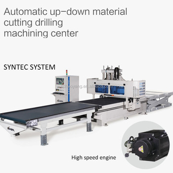 Automatic up-down material cutting drilling machining center