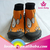 Large quantity in stock various styles kids' sock rubber shoe for kids