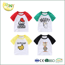 Cheap cartoon animal custom 100%cotton baby shirts