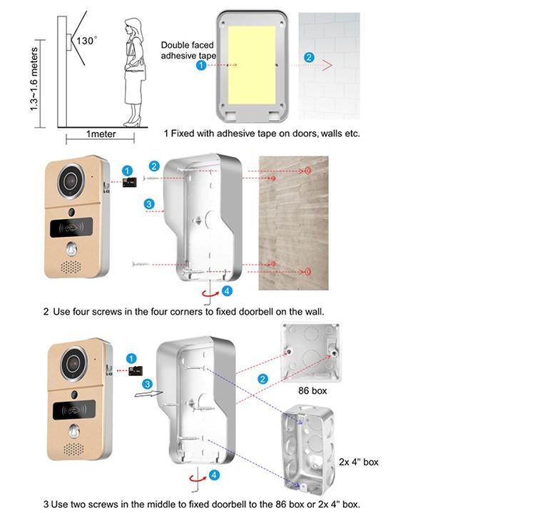 Details about KONX KW02C Interphone 720p IP+Wifi+Relais porte+RFID+Full  Duplex+Sonnette 433Mhz