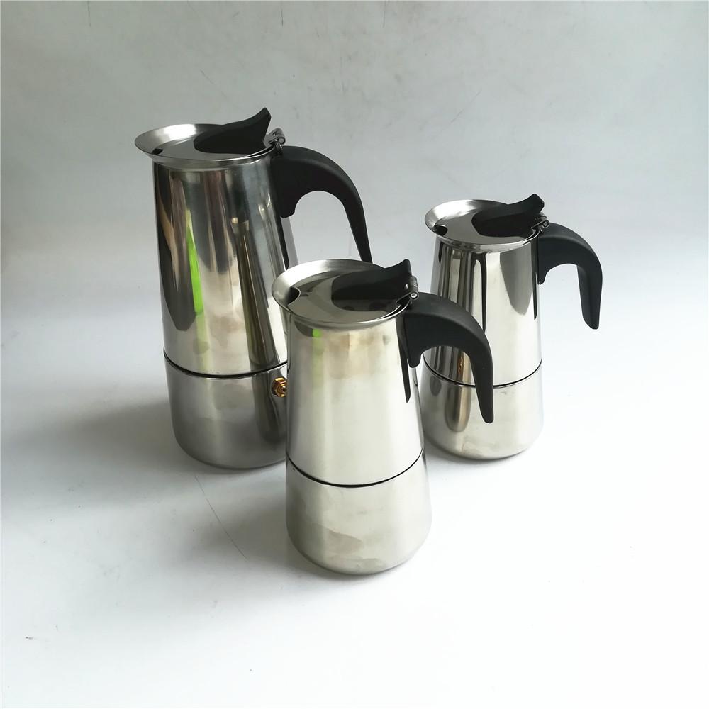 Induction Espresso Moka Pot Clic 6 Cup Maker