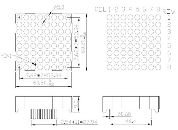 free sample indoor outdoor using high brightness dot matrix modules
