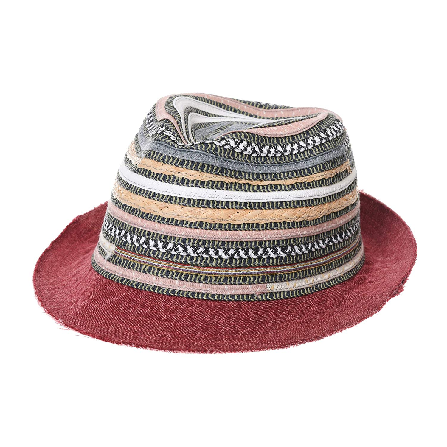 Get Quotations · WITHMOONS Fedora Hat Summer Cool Aztec Pattern Paperstraw  Trilby GN61001 a138c17573c