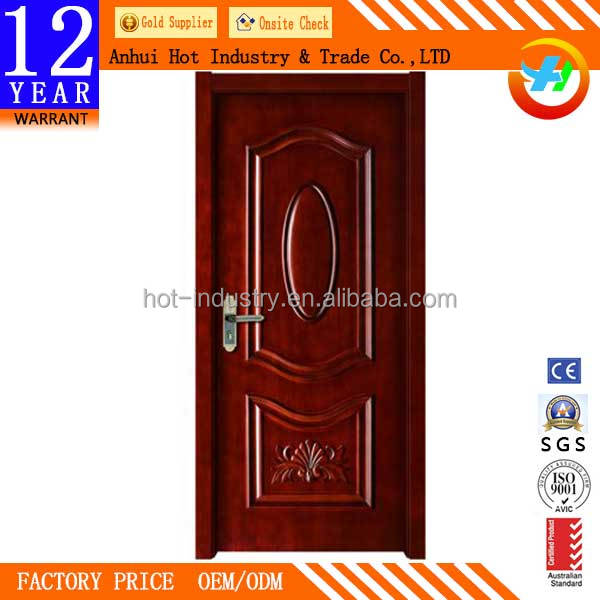 2016 New Style Solid Wooden Door Soundproof Fire Rated Wooden Door price