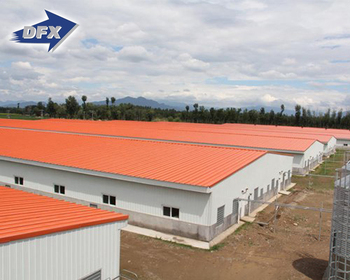 China Construction Real Estate Prefab Insulated Steel Poultry Farm House