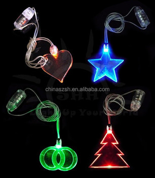 2015 led christmas light necklace light up christmas necklace glow in the dark cross