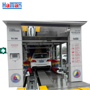 51 feet automatic tunnel car wash machine with 7 dryer