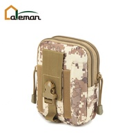 Camouflage Tactical Military Army Mens Waist Belt Clip Pouch Phone Pocket Holster Case Molle Bum Bag Fanny Pack Hip Money Purse