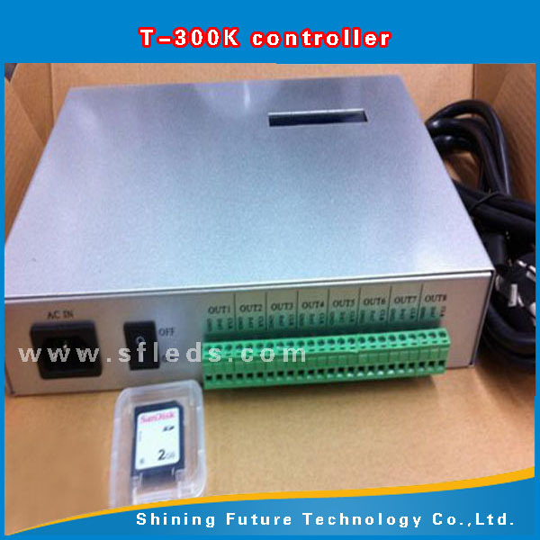 3a9cc74a0f4 ... T300K SD Card controller online VIA PC RGB Full color led pixel module controller  8 ports