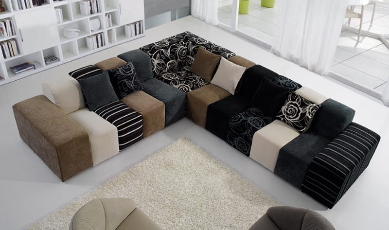 2017 Latest Modern Sofa Design Large 7 Seater Curved Sectional For