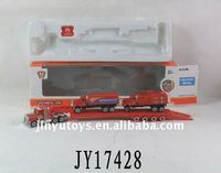 diecast toy tow truck with fire engine toy