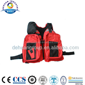 Multiple- pocket 600D High Density Waterproof Polyester Fishing Vest with PU Coating