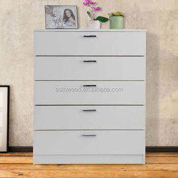DIY assemble wooden 5 drawer chest ,fsc certificate chest of drawers