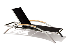 outdoor furniture sun lounge chair teak wood arm(DW-CL019)
