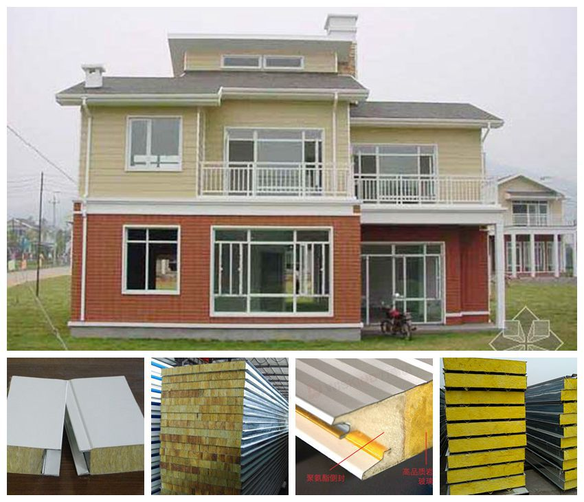 Modern home struction insulation fireproof insulation - Sandwich panel homes ...