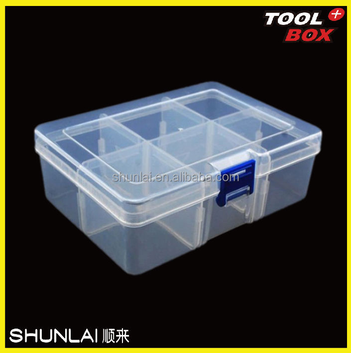 Pp Plastic Tool Storage Divided Box 6 Compartment Plastic
