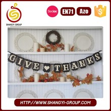 Fashion design Thanksgiving Holiday hanging letter bunting flag banner