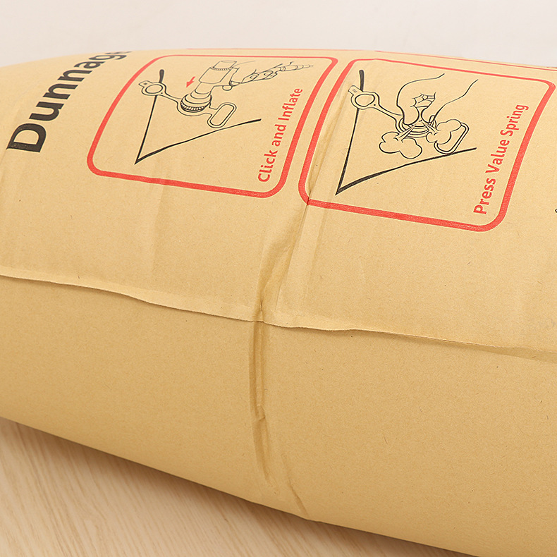high strength recyclable AAR and SGS Approved Brown inflatable Kraft Paper Dunnage Air Bag for void filling fillers