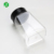 special trapezidal clear flip & shaker top spice jar plastic