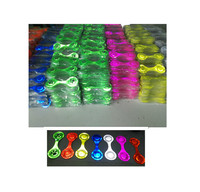 high visibility reflective magnetic clip reflector for backpack / custom print promotional gifts pvc clip