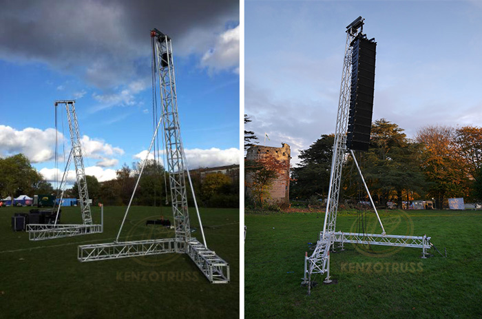 Aluminum Support Line Array Speaker Truss PA Tower Truss Stand for Display