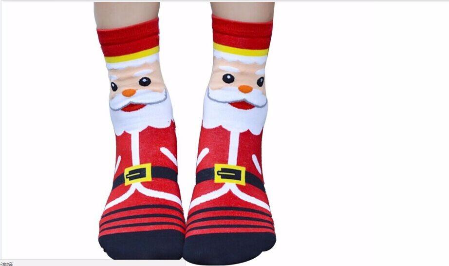 china factory custom made warm light up christmas socks - Light Up Christmas Socks