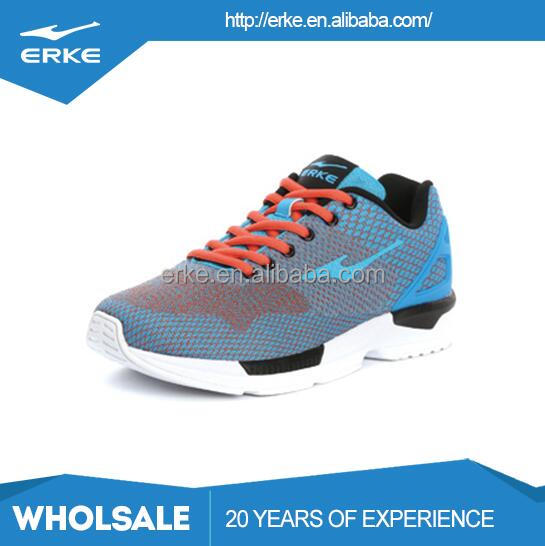 ERKE wholesales drop shipping fashion brand fly kintted breathable mesh mens sports running shoes
