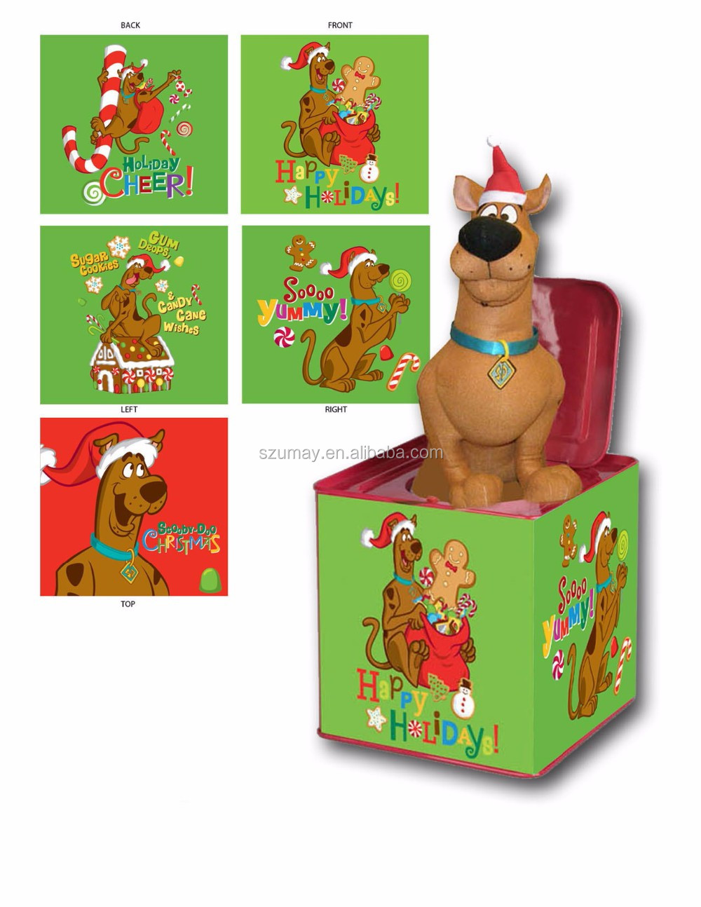2018 Christmas Gift Jack In The Box Toys Dog Gift Sing Music Song ...