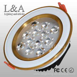 9w/12W white and gold star hotel embedded led downlight