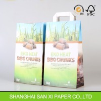 Customized kraft paper barbecue charcoal packaging bags