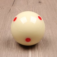 "6 Red Dot 2-1/4"" Measel Cue Ball TB-008"