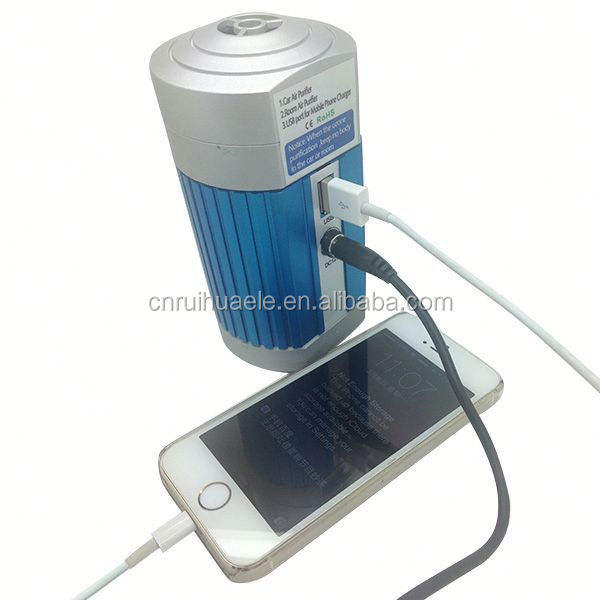 Top grade latest solar car auto air purifier ionizer