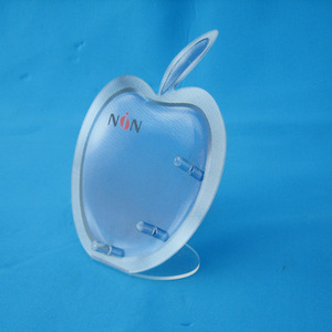 Best selling apple shape acrylic phone display stand counter top phone holder