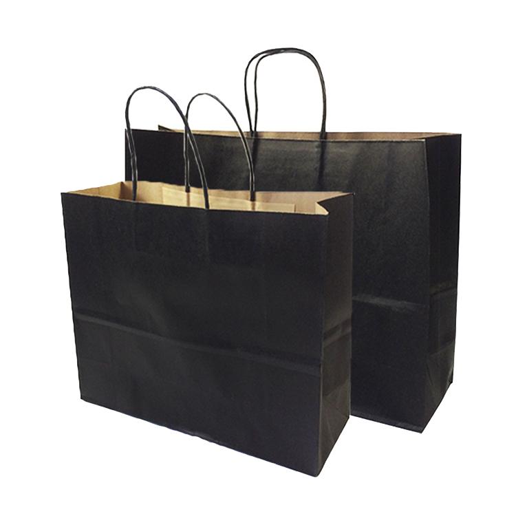 Luxo personalizado cópia do logotipo personalizado saco de papel kraft de compras