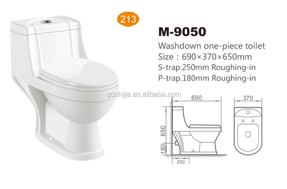 M9050 Ceramic Cera Sanitary Ware Cheap Washdown One Piece