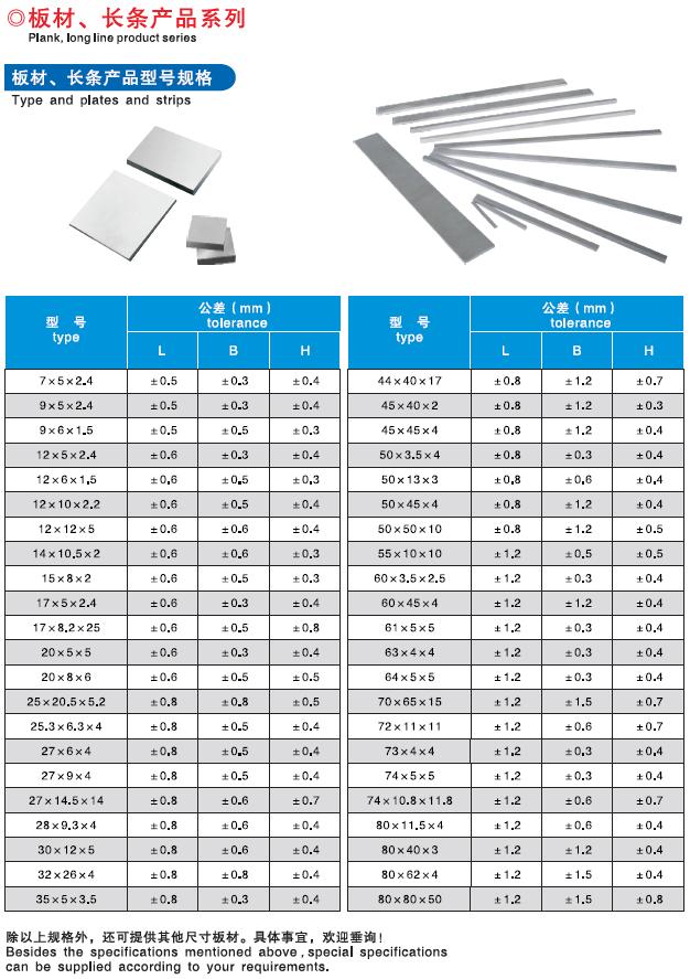 Fertig Customized-Hartmetall Platte K10 K20 Für Kleine Tragen Teile