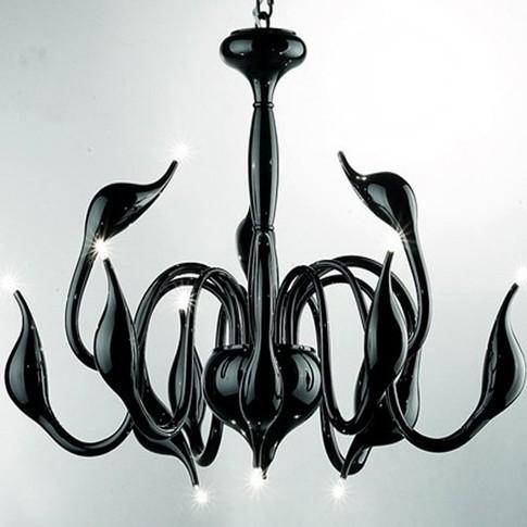 livraison gratuite 12 feux de mode de cygne noir lustre lampe moderne rouge noir blanc. Black Bedroom Furniture Sets. Home Design Ideas